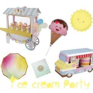 Party Supplies - Ice Cream Party Theme set